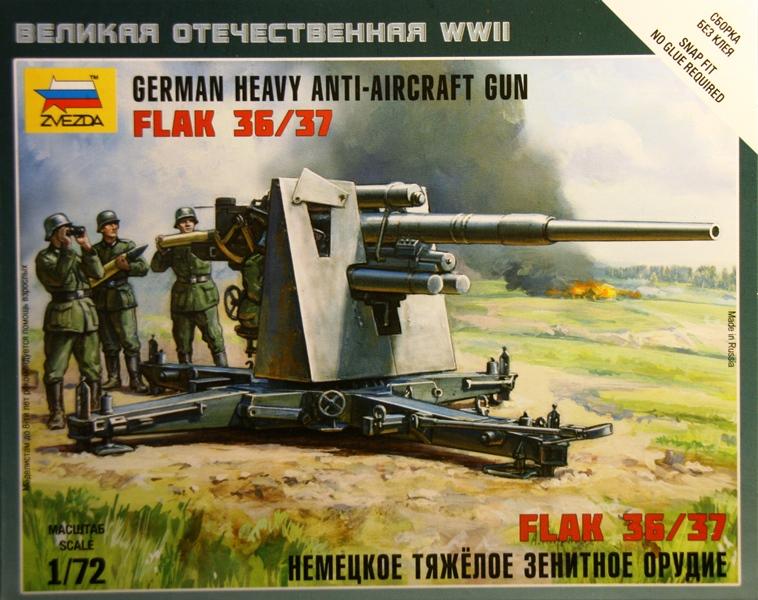 8,8cm Flak 36/37 von Zvezda Fertig