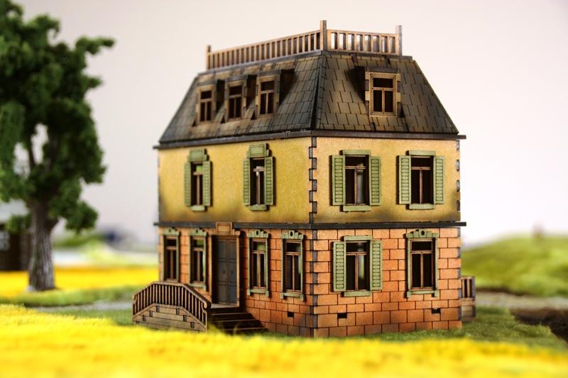 Gebäudeserie von SARISSA Precision Chateau01
