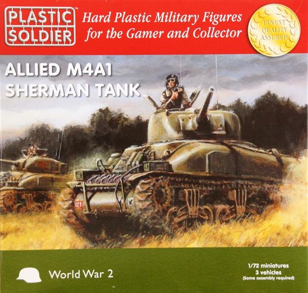 Allied M4A1 Sherman Tank von PSC Schachtel