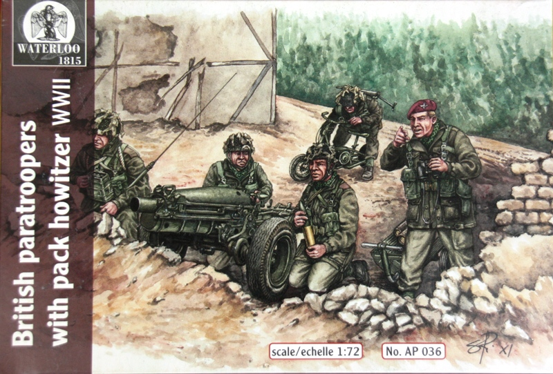 British Paratroopers with Pack Howitzer WWII von Waterloo1815 Schachtel
